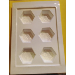 Wax Mould (1oz Hexagonal)