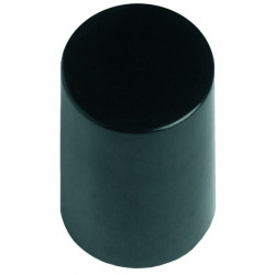 Black Rollette Cap (17mm)