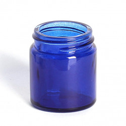 30ml Blue Glass Jars & Lids