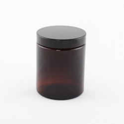180ml Amber Glass Jars & Lids