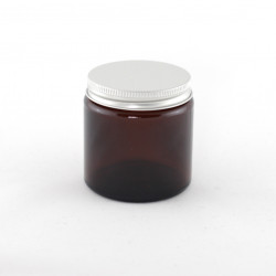 120ml Amber Glass Jars & Lids