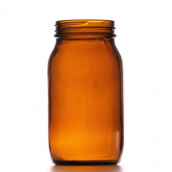 175ml Amber Powder Jar/Lids...