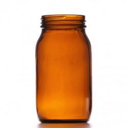 175ml Amber Powder Jar/Lids...