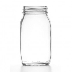 175ml Clear Powder Jar/Lids...