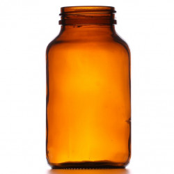 250ml Amber Powder Jar/Lids...