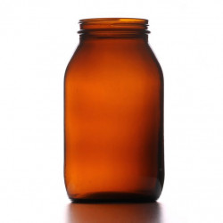 500ml Amber Powder Jar/Lids...