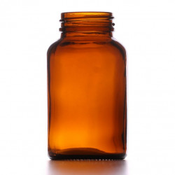 120ml Amber Powder Jar/Lids...