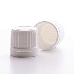 18mm White T/E EPE Lined Cap