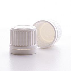 18mm White T/E Foam Lined Cap