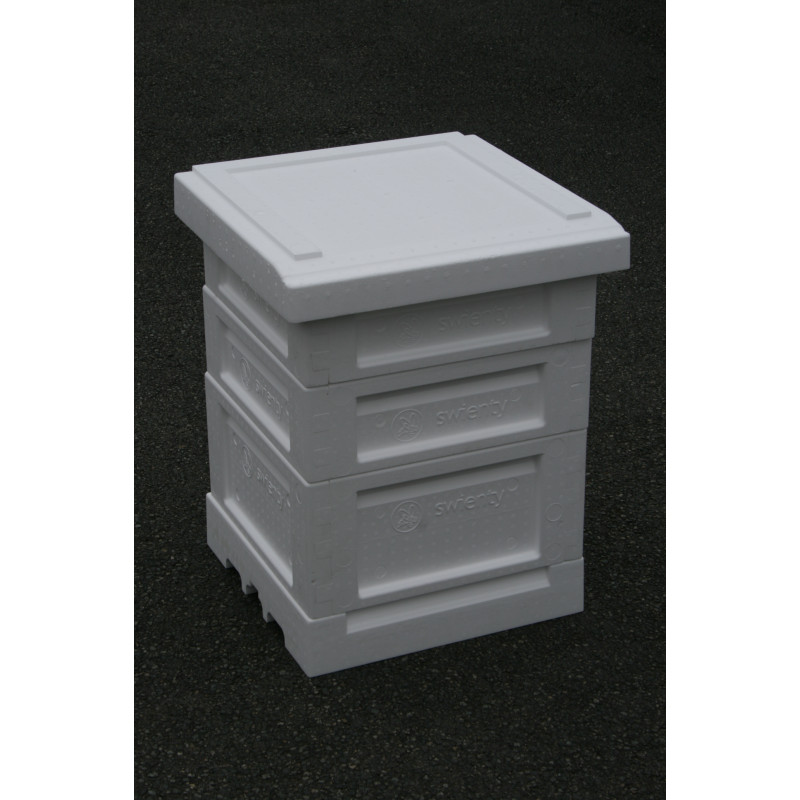A Polyhive with Floor Beekeeping Supplies UK Poly Hive with 2 Supers Brood Box Queen Excluder 2 supers Crown Board and Roof