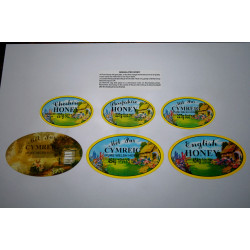 8oz/227g Honey Labels -...